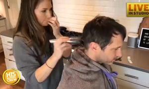 Brandon Heath let his wife cut his hair!
