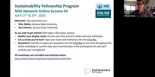 Sustainability - Cohort B online session 3b