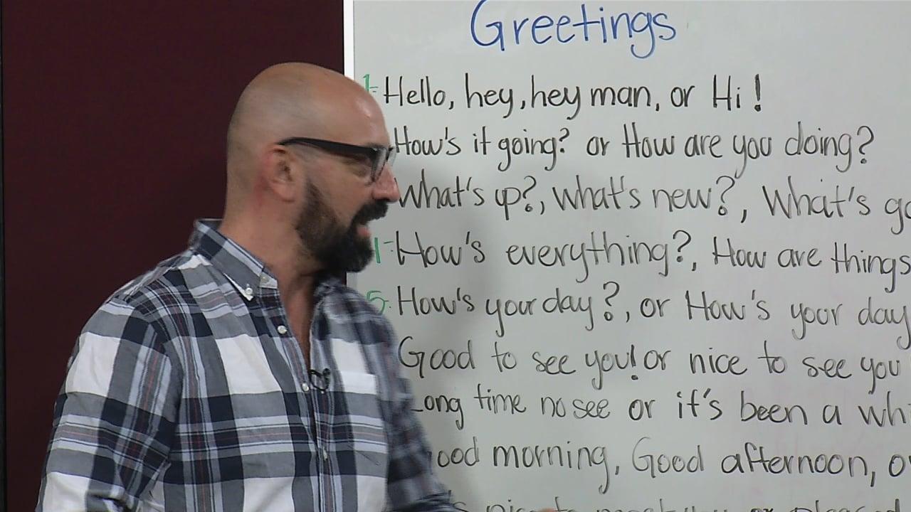 Greetings, farewells and subject pronouns