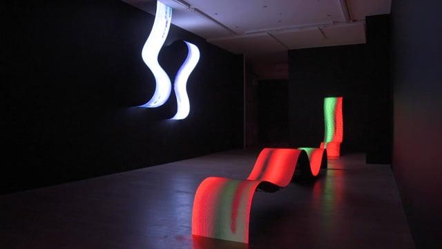 "Daniel Canogar, ""Billow,"" Installation, April 22 – June 3, 2020"