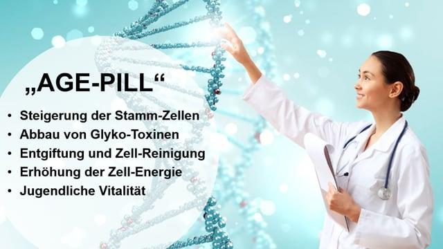 Kurzversion - AGE-Pill  - Sisel International, Stammzellen, Zell-Reinigung, Zell-Reparatur und Zell-Verjüngung