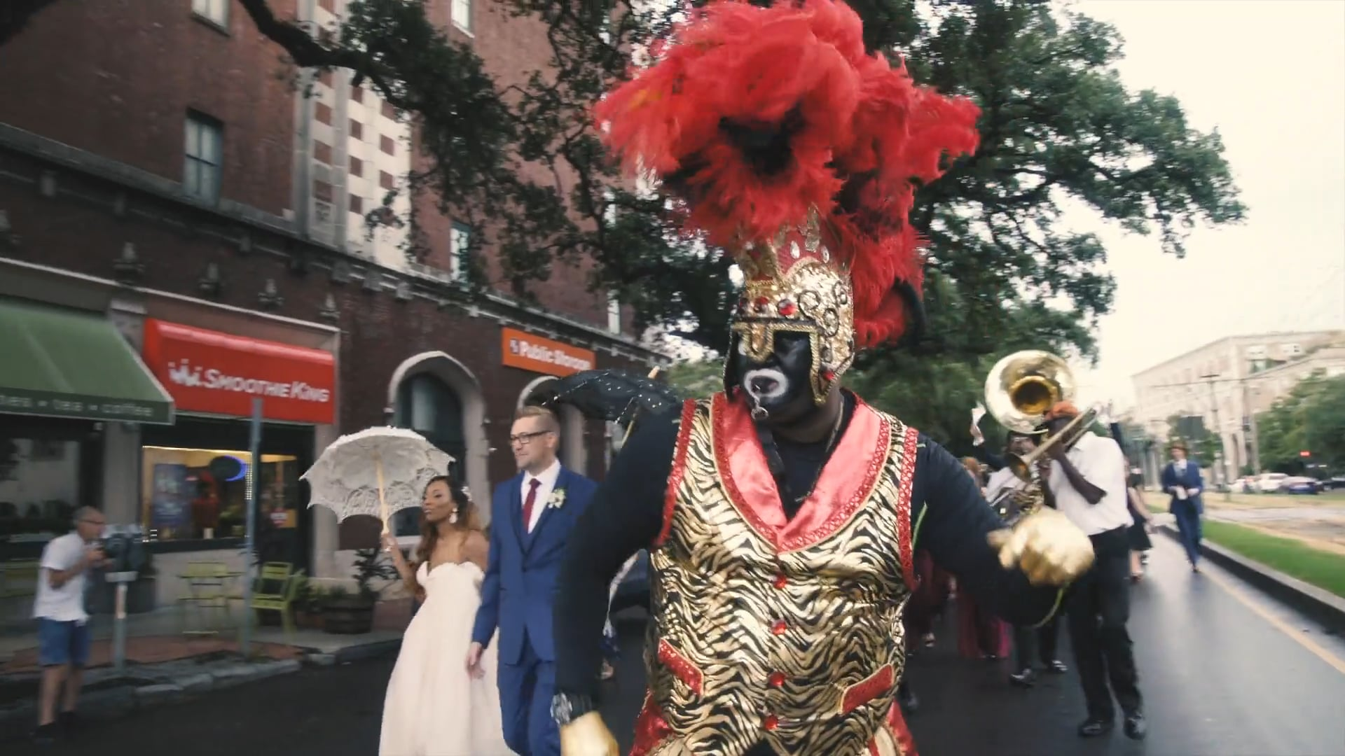 This New Orleans Second Line Wedding Will Make You Get Up and Dance | Kahran & Jonathan
