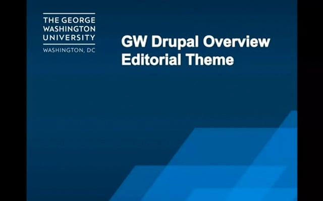 Editorial Theme Overview