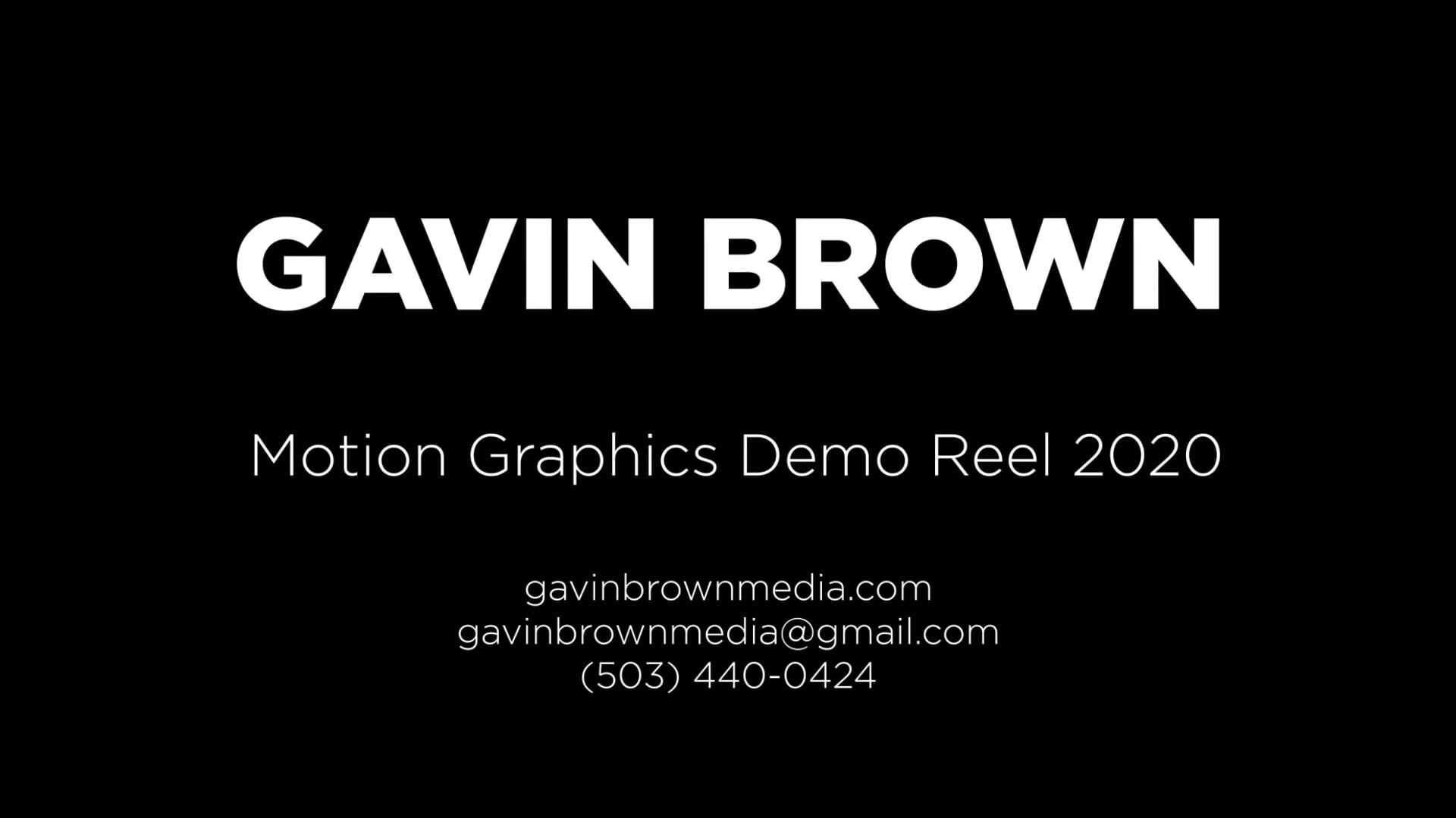 Motion Graphics Demo Reel 2020