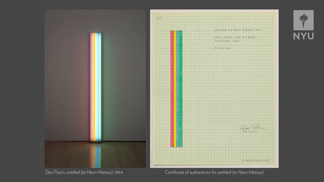 Artist Archives 2018 Symposium: Francesca Esmay & Jeffrey Weiss