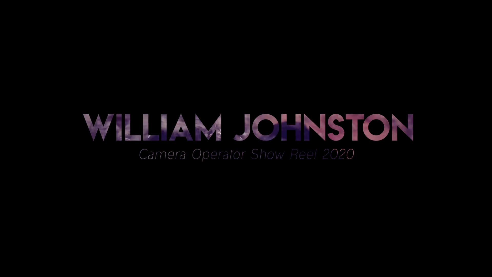 William Johnston long reel 2020