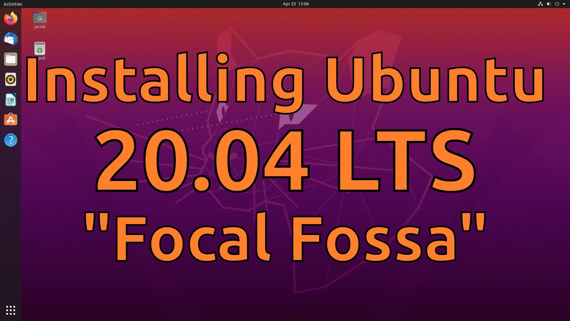 Installing Ubuntu 20.04 LTS