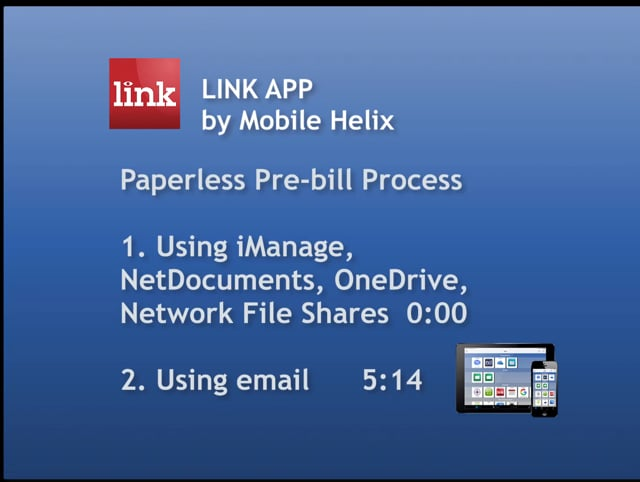 LINK App: Paperless Legal Pre-bill Approval Workflows 8:54