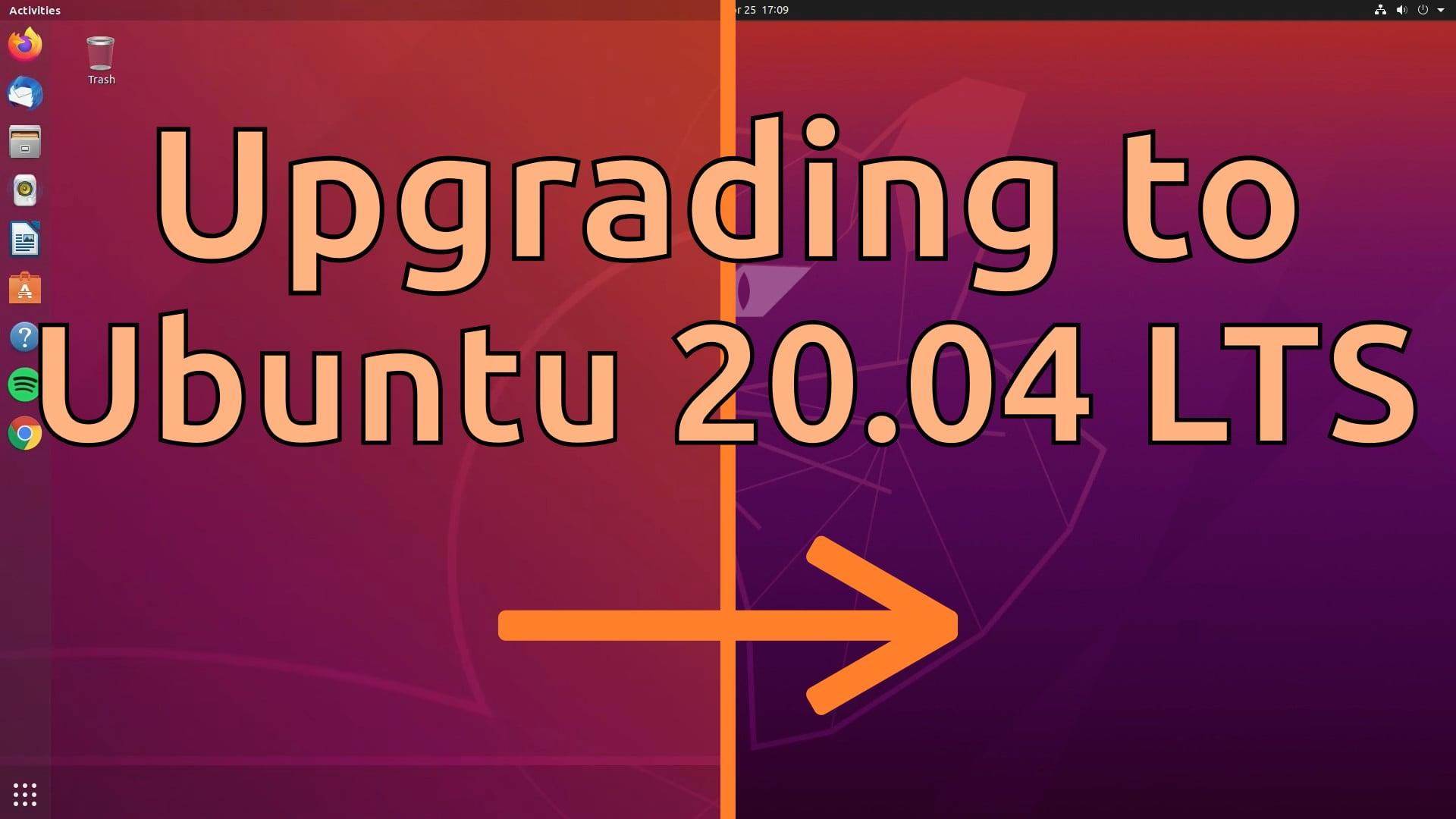 Upgrading to Ubuntu 20.04 LTS