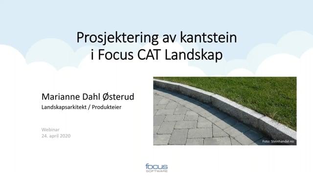 Prosjektering av Kantstein i Focus CAT Landskap