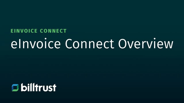 eInvoice Connect - Overview