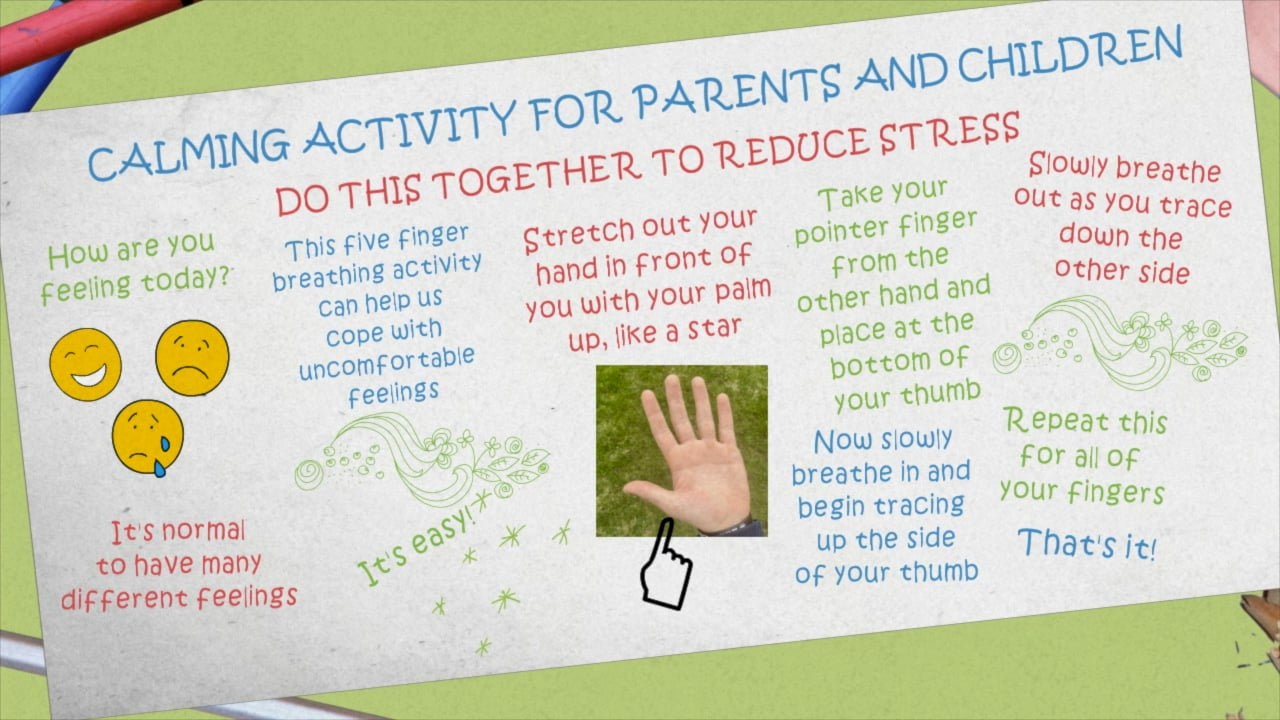 Calming Finger Activity For Parents and Children