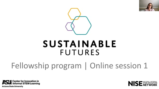 Sustainable Futures Fellowship Pre-Conference Online Session 1A for 2020 Cohort C Fellows