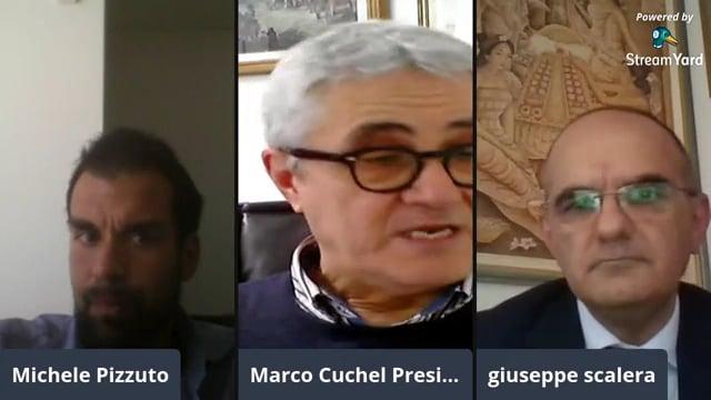 Il Presidente Marco Cuchel e Giuseppe Scalera, Presidente Anc Bari. La vita del commercialista ai tempi del coronavirus