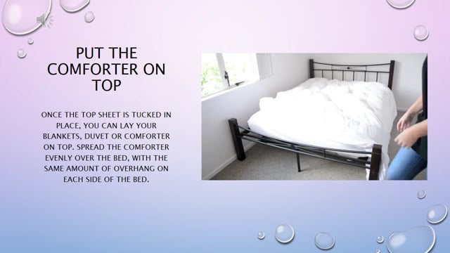 How to - Make a bed