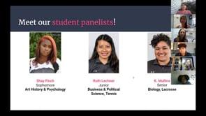 Current Student Q & A panel: April 25, 2020