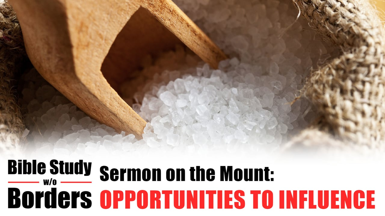 Opportunities to Influence - Bible Study without Borders: Ep. 1 (Matt. 5:13-16)