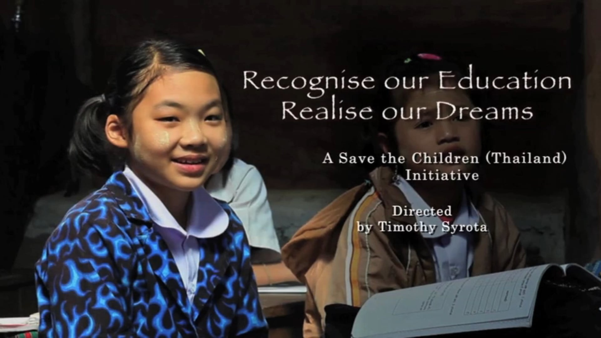 Recognise Our Education Realise our Dreams - English