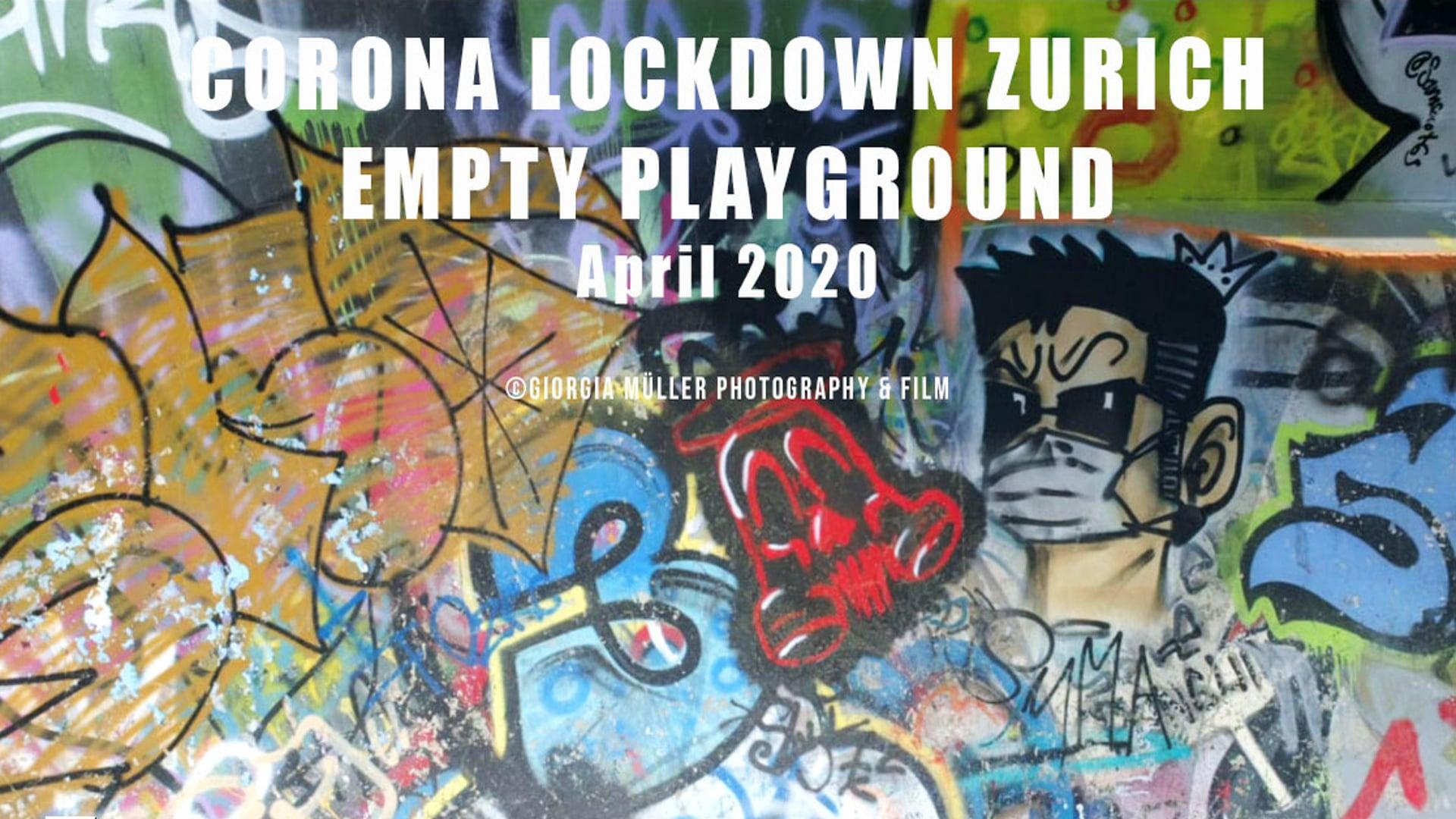 Corona Lockdown Zurich - Empty Playground