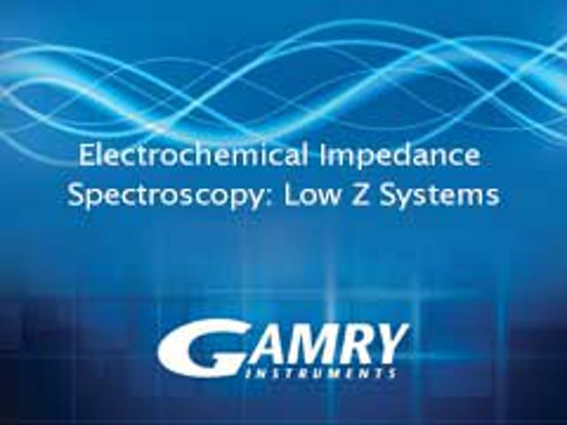 Low Impedance EIS