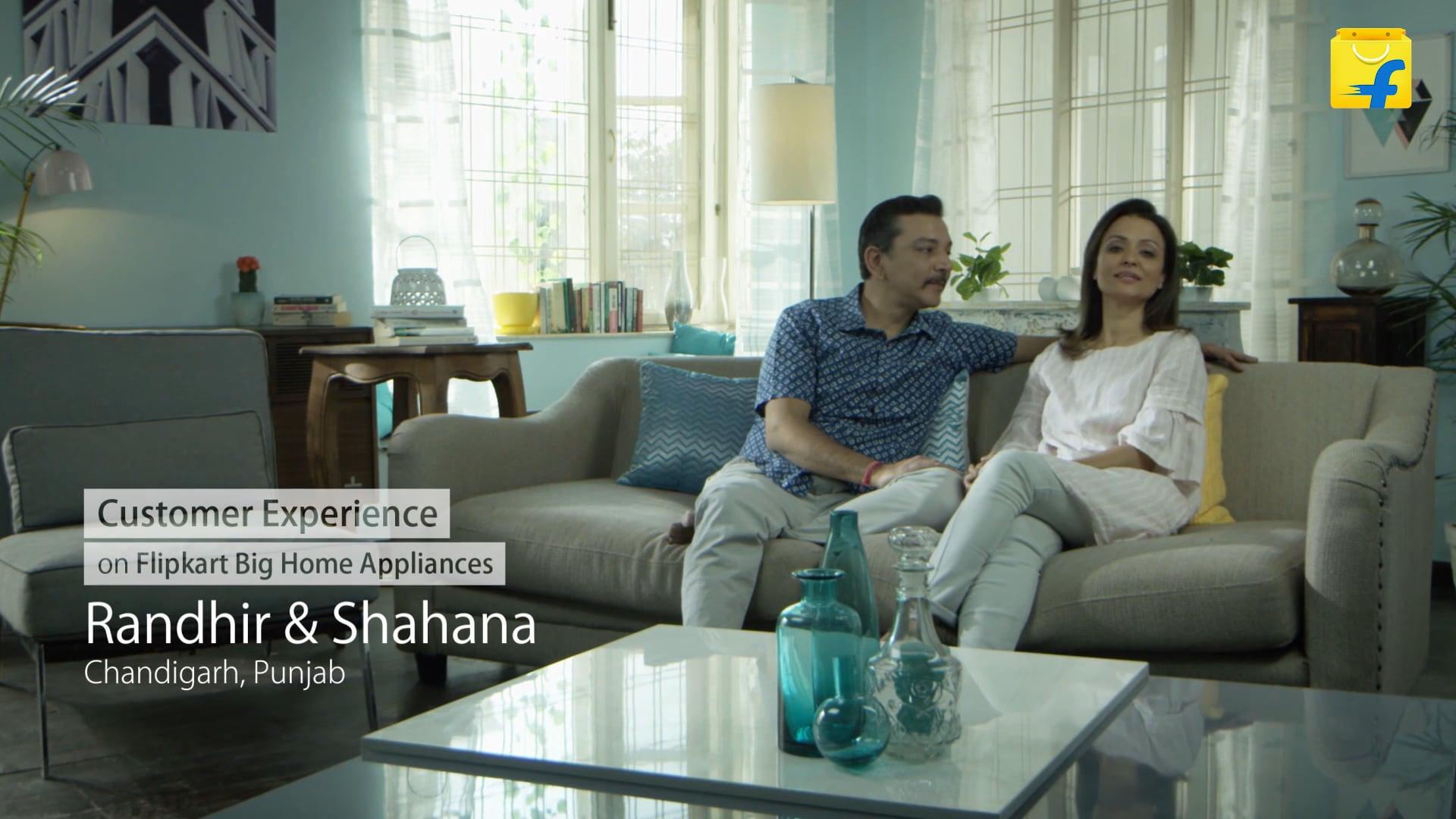 Flipkart: Large Appliances: Customer Testimonial