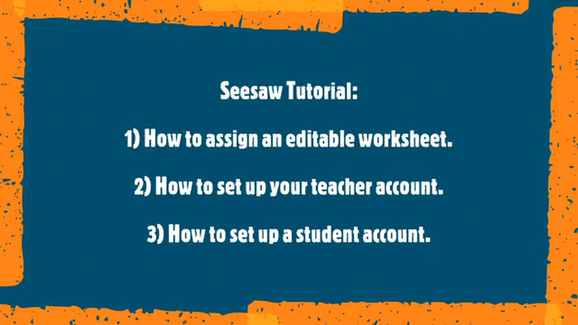 How to assign an editable worksheet in Seesaw