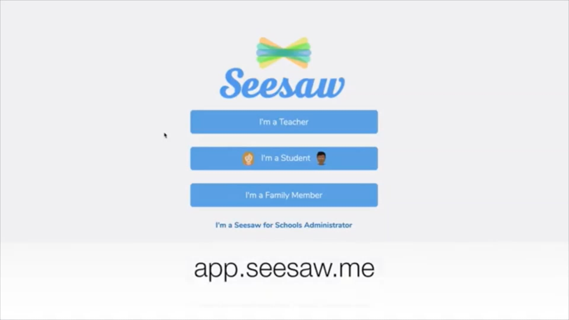 Seesaw sign in for students