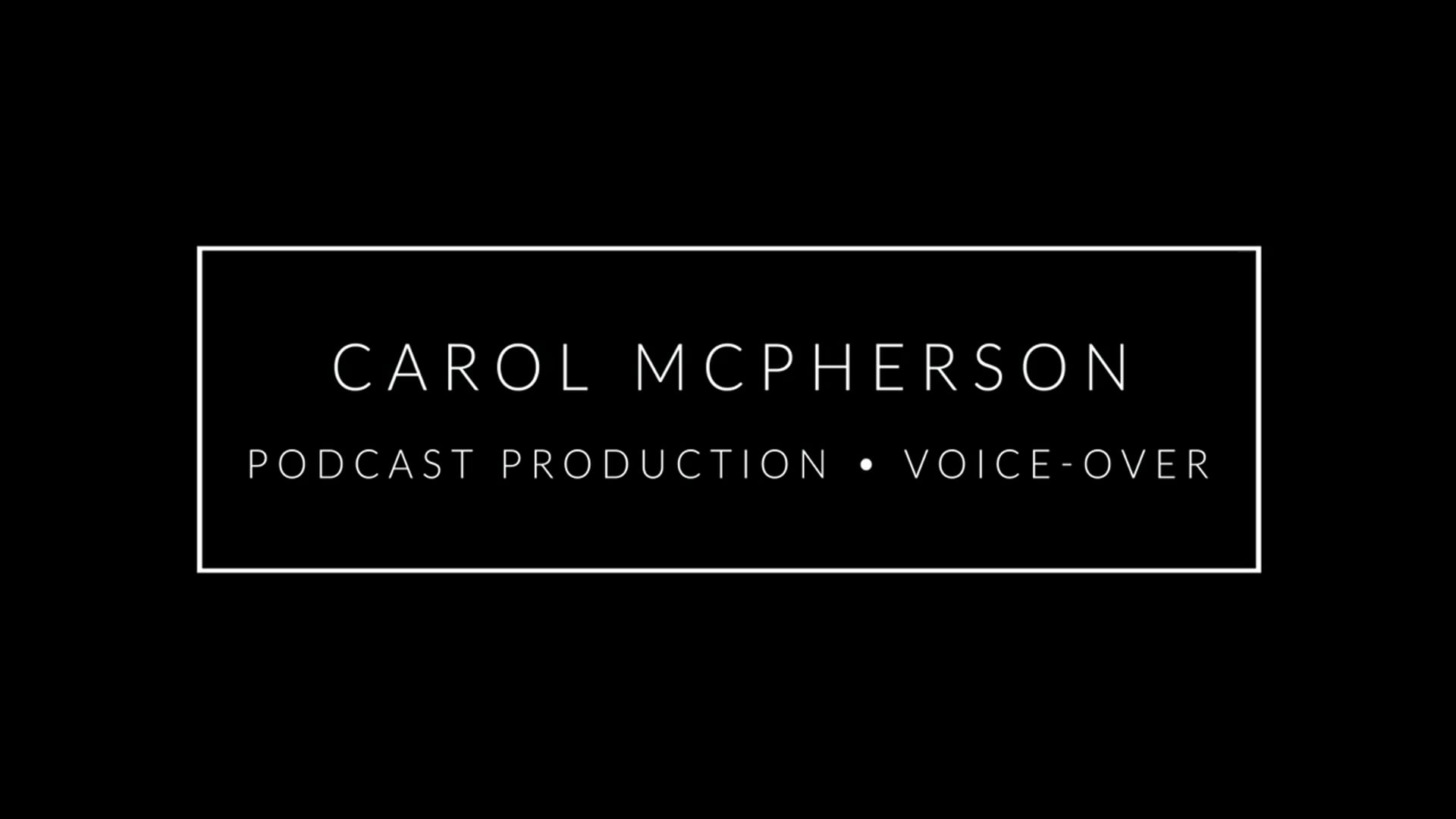 Podcast Production/Voice-Over Demo Reel