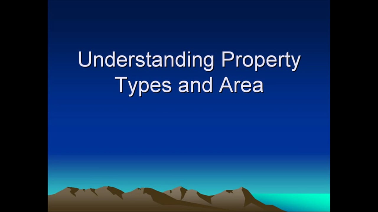 Understanding Property Types and Area