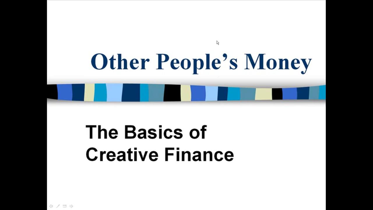 The Basics of Creative Finance