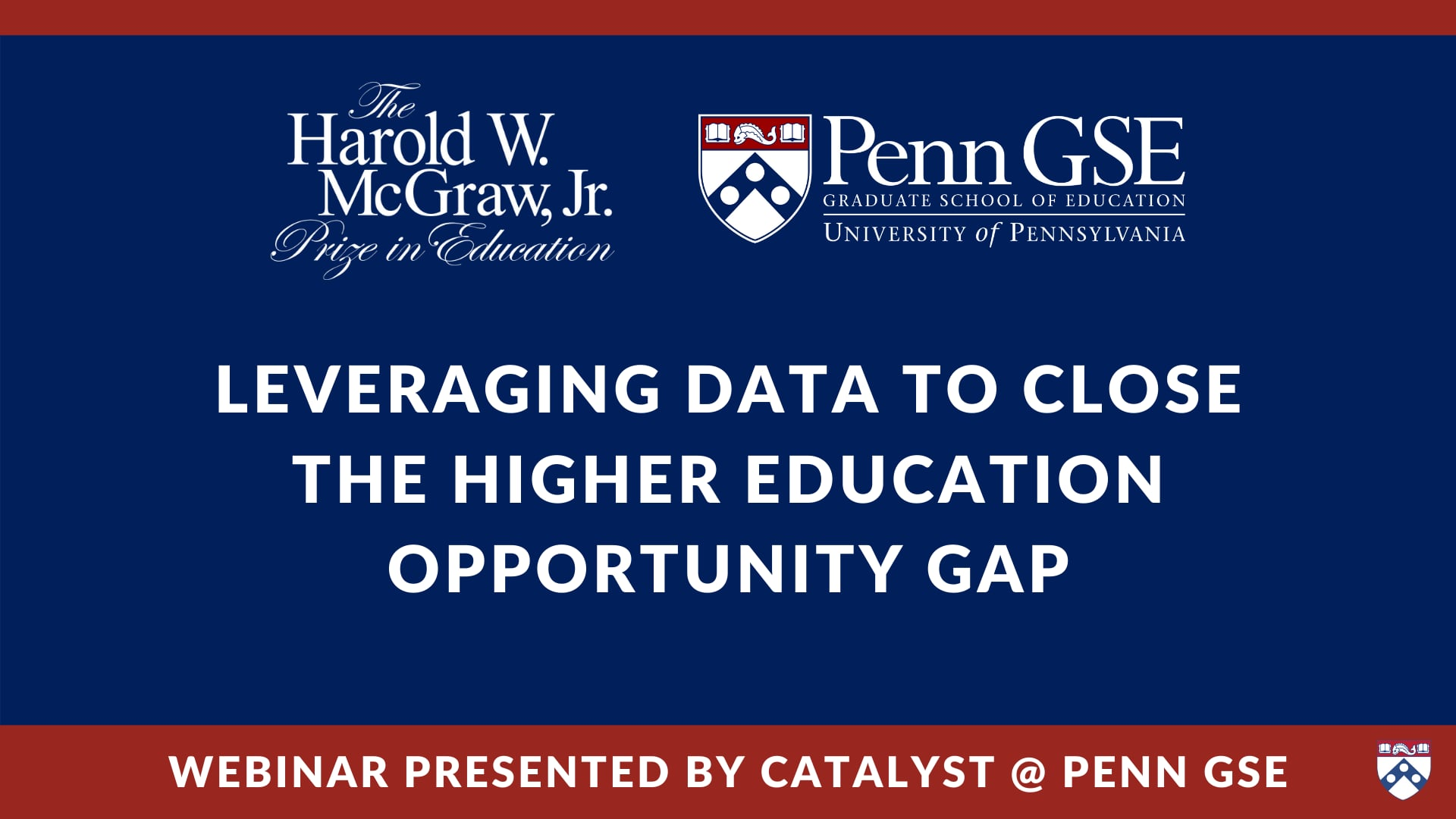 Play video: Leveraging Data to Close the Higher Education Opportunity Gap