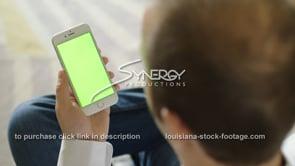 1863 swiping on iphone smartphone green screen