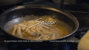 1883 cooking soft shell crab stock video