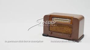 1889 Philco Radio WS right justified vintage tube radio stock video footage