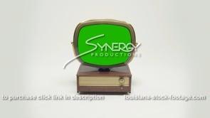 1920 green screen Philco Predicta Holiday MS high angle