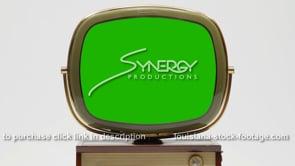 1925 Philco Predicta Holiday CU green chroma screen visual effects