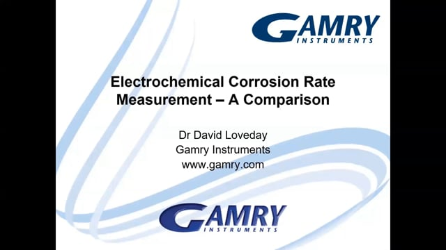 Electrochemical Corrosion Rate Measurement
