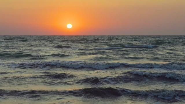 Sounds of the Sea at Sunrise. The Sea of Azov, Ukraine