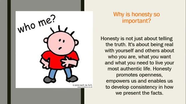 Positive Behavior -  Honesty