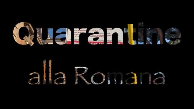 Quarantine alla Romana: Coronavirus and Charity Initiatives