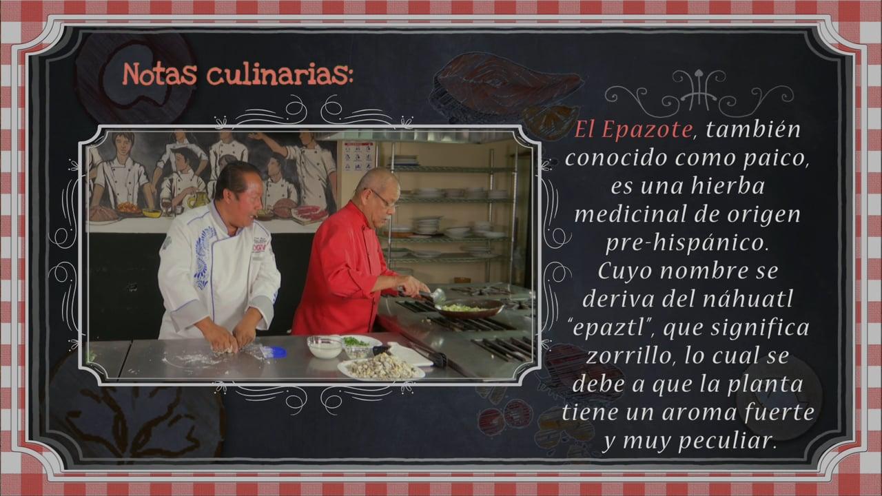 Tacos de Huitlacoche y Pasta Dos Imperios