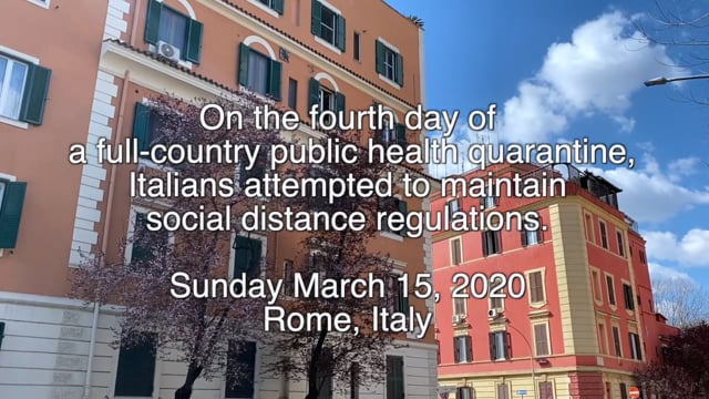 Quarantine alla Romana: Parco della Caffarella