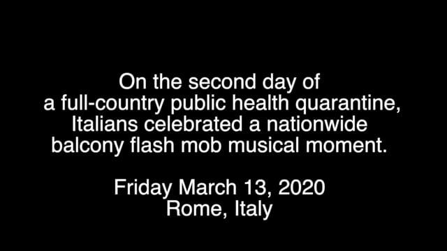 Quarantine alla Romana: Balcony Flashmob