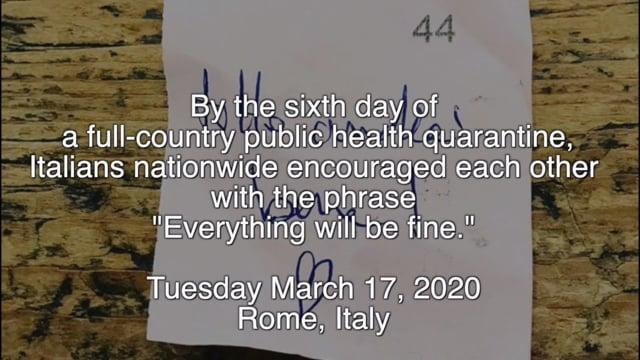 Quarantine alla Romana: Andrà Tutto Bene
