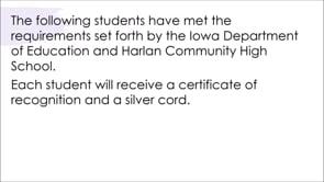 HCHS 2020 Graduation and Awards