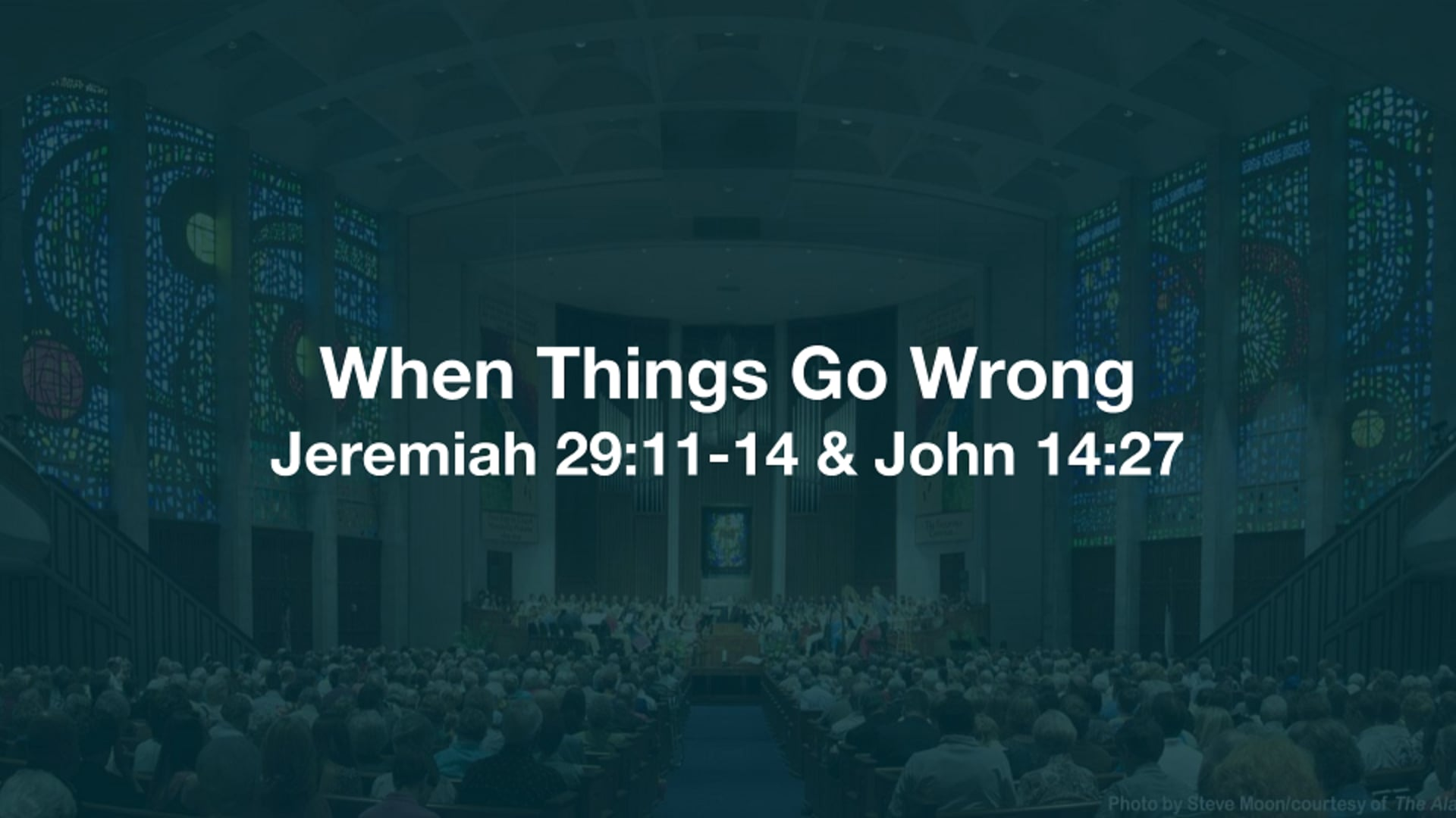 The Way Things Are Supposed to Be, the Way They Should Be --- Scripture & Sermon at 27:29
