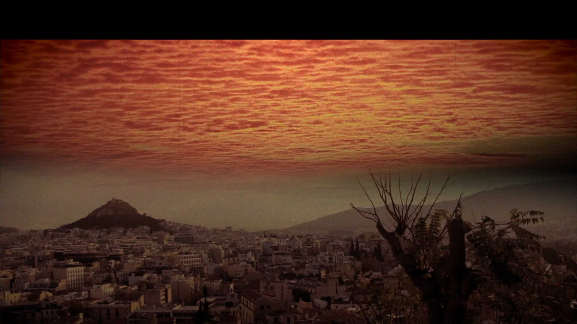 Athens sunset Composition