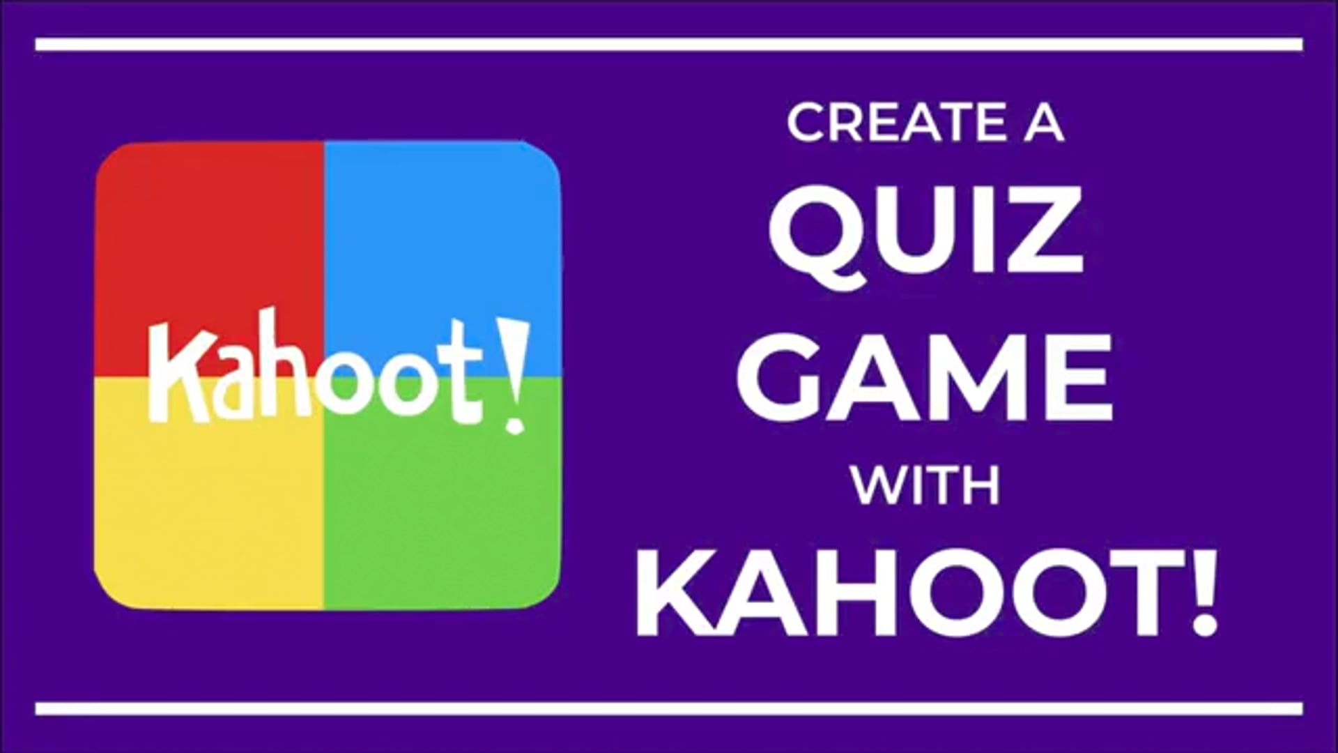 Create a Quiz Game with Kahoot!