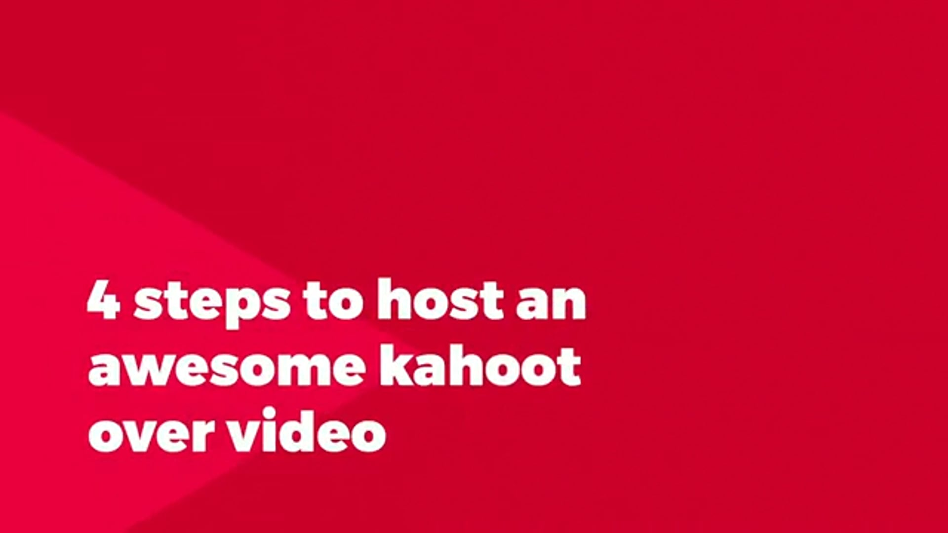 How to host a Kahoot! live over video with remote participants