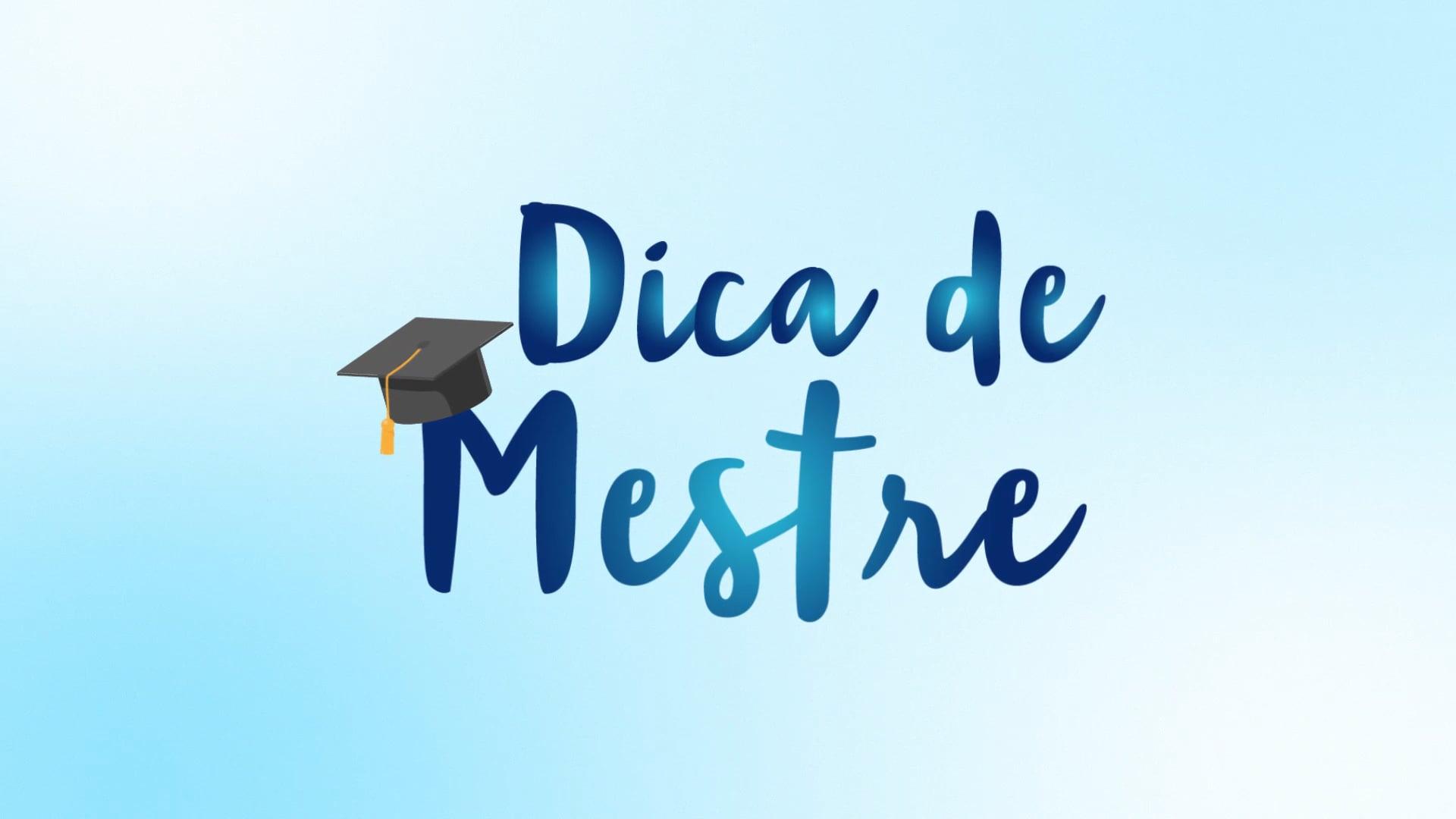 VINHETA DICA DE MESTRE